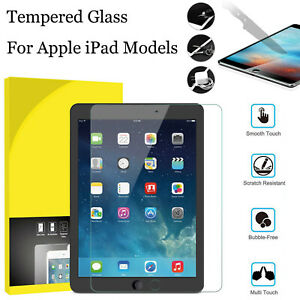 Tempered Glass 9H Screen Protector for Apple iPad 10.2 MINI AIR 9.7 PRO 12.9 11