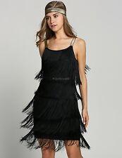 Jazz Fringe Flapper 1920s 30s Fancy Dress Gatsby Womens Costume Dress A++++++ C5
