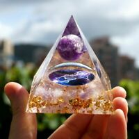 Amethyst Sphere With Rose Quartz Scorpio Orgonite Pyramid Reiki Crystal Healing