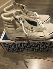 """Brand New White Vans Skate Hi 8 """"Deconstruct  UK 7"""