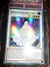 YU-GI-OH! UR DEMOISELLE DE LA ROSE DU JARDIN LED4-FR023 NEUF FRANCAIS EDITION 1