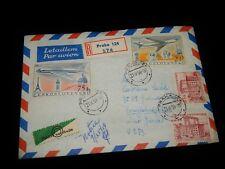 Vintage Cover, PRAGUE, CZECHOSLOVAKIA, REGISTERED, 1959, To Poughkeepsie, NY