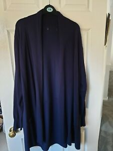 Debenhams Longline Navy Cardigan Size 24
