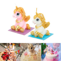 Cute 3D Unicorn Candles Party Supply 1PC Baby Shower Birthday Party Cake Decor
