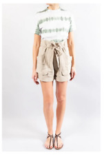 Isabel Marant Étoile / Belize cotton-blend shorts / Khaki Beige / Size 36 **NWT*
