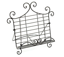 ~~ONE (1) LARGE METAL SCROLL DESIGN EASEL BOOK STAND~LARGE BOOK PLATE DISPLAY!~~