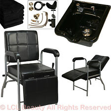Acrylic Fiber Shampoo Bowl Sink Chair Leg Rest Barber Beauty Spa Salon Equipment