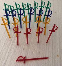 Vintage Plastic Olive Spears Holder Toothpick Swords