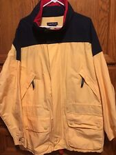 Vintage Nautica Mens Yellow Light Weight Sailing Jacket Size XL