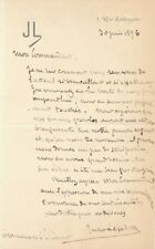 Peintre Jules LEFEBVRE échec fils moral lettre autographe signée Ct Simart marin