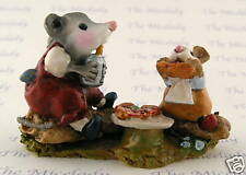 Wee Forest Folk Possums Pizza Party, Wff# M-244, Red, Retired 2011