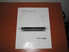 Originale Harman Kardon  Bedienungsanleitung für BDT 2/BDT 20 guter Zustand