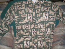 Mens Outdoor Life Fish Print Shirt L Vg