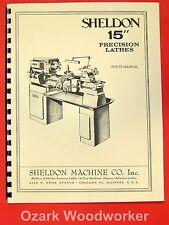 "SHELDON 11/"" Metal Lathe Parts Manual 0651"