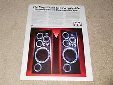 Wharfedale E-70, E-50 Speaker Ad, 1978, 1 page, Article, Info, Rare Ad!