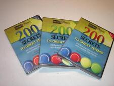 Vol 1-3 Dvd set 200 Secrets To Great Tennis by Joe Dinoffer Oncourt Offcourt New