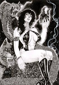 "PIN UP Vampirella (11"" x17"") by CLAUDIO FERREIRA - ArtinUp"