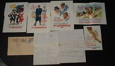 Vintage advertising leaflets and letter Greek company Lampropoulos 27-10-1949