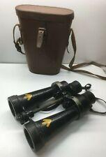 Antique WW2 Barr & Stroud 7x CF41 NAVAL Binoculars w Case SN:3127