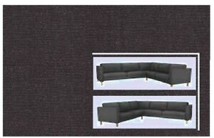 "IKEA Karlstad Sivik Dark Gray Corner Sofa Cover""DENIM""2+ 3 +2""SEALED Authentic"