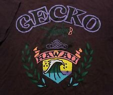 New listing Vintage 1980-90s Gecko Hawaii Micro Stripe Surf 2-Sided Made in USA XL Shirt