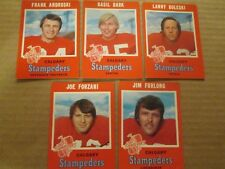1971  O-Pee-Chee CFL Calgary Stampeders Team Set COMPLETE,REDUCED