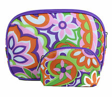 New! Clinique Cosmetic Makeup Bag Set (1 Large + 1 Small)