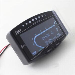 5in1 Car LCD Digital Oil Pressure + Volt + Water Oil Temp Volt Tacho Bar Gauge