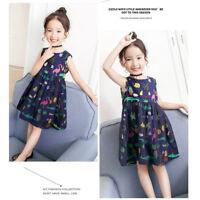 Children Girls Beach Summer Sleeveless Mini Short Dress Casual A Type Dress WT