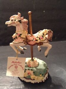 Heritage House Holiday Plays Music Carousel Horse Country Fair Collection