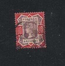 ROYAUME UNI .N°102  OBLITERE.10p ROUGE 1887.. COTE 47,50  €. PRIX: 5,45 €