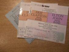 1992 Wembley Concert. Eric Clapton & Elton John. 2 Tickets & Car Park Ticket.