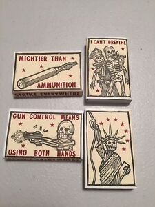 Ravi Zupa Hand Silkscreen Matchbox Signed & Numbered #/5 Lot Of 4 Shepard Fairey