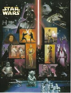 Star Wars 30th Anniversary US Stamp Sheet of 15 Mint Never hinged Stamps (2007)