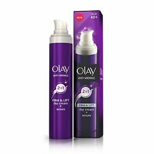 Olay Anti-Wrinkle Firm & Lift Moisturiser 2 in 1 Day 40+ Cream and Serum 50ml
