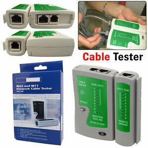 Network Tester Ethernet Cable Testing Tool Kit Toolkit Cat5 Cat5e RJ11 LAN Sell