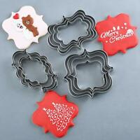 4Pcs Stainless Steel Cookie Fondant Cake Models Chocolate Mold Baking Mould