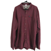 Vintage The North Face Button Up Shirt Mens XL Red Long Sleeve Modal Polyester