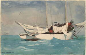 Winslow Homer Key West Poster Reproduction Paintings Giclee Canvas Print