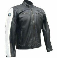 BLACK BMW MOTORBIKE RACING LEATHER JACKET CE APPROVED