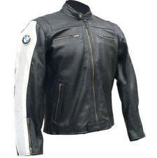 BLACK BMW USA MEDIUM SIZE MOTORBIKE RACING LEATHER JACKET CE APPROVED