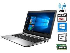 "HP ProBook 455 G2 A6 7th Gen 2.2 GHz 8 GB 128GB SSD Windows 10 Pro Laptop 15.6"""