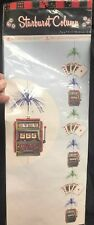 Casino Themed Hanging Decoration Foil Starburst Column Cards Slots