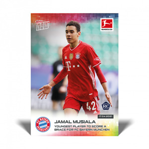 2020-21 Topps Now #171 Jamal Musiala RC Bayern Youngest to Score Brace PRESALE