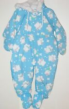 BRIGHT FUTURE Size 24 Months Blue Fully-Lined Hooded Snowsuit Overalls Outerwear