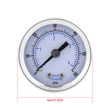 "0-60psi 0-4bar 1/8""BSPT Pressure Gauge Manometer for Water Air Oil Small"