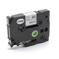Ruban cassette 5,8mm noir > blanc pour Brother P-T HSe211, HS-211
