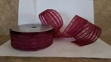 Wedding/Party/Bouquet/Chr istmas/Gift Wrap Burgundy Wired Polyester Ribbon 10yds