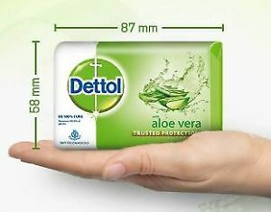 Dettol Bathing Bar Soap, Aloe Vera 100 G(Pack of 3) 3*100 Grams