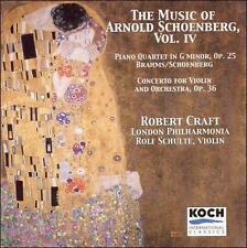 Schoenberg: Violin Concerto / Brahms: Piano Quartet in G Minor, Op. 25  Music of